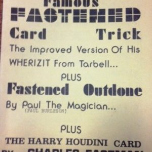 Famous Fastened Card Trick
