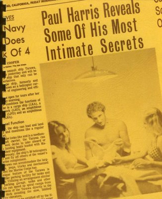 Paul Harris Reveals Some of His Most Intimate Secrets!
