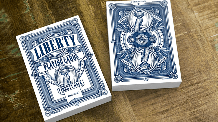 Liberty Playing Cards (Blue) by Jackson Robinson and Gamblers Warehouse