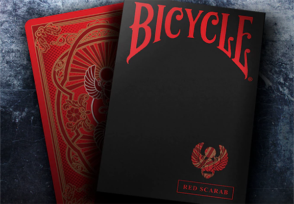 Bicycle Scarab (Red) Playing Cards by Crooked Kings