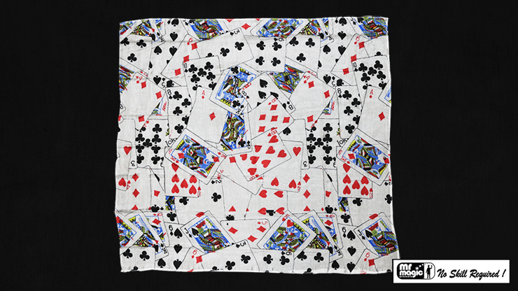 Production Hanky Multi Card Print (21  inches  x 21  inches) by Mr. Magic - Trick