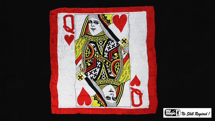 Production Hanky Queen of Hearts (36 inch  x 36 inch) by Mr. Magic - Trick