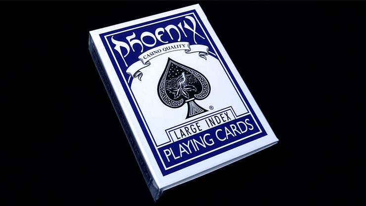 Phoenix Deck Large Index (Blue) by Card-Shark