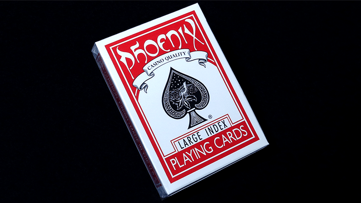 Phoenix Deck Large Index (Red) by Card-Shark